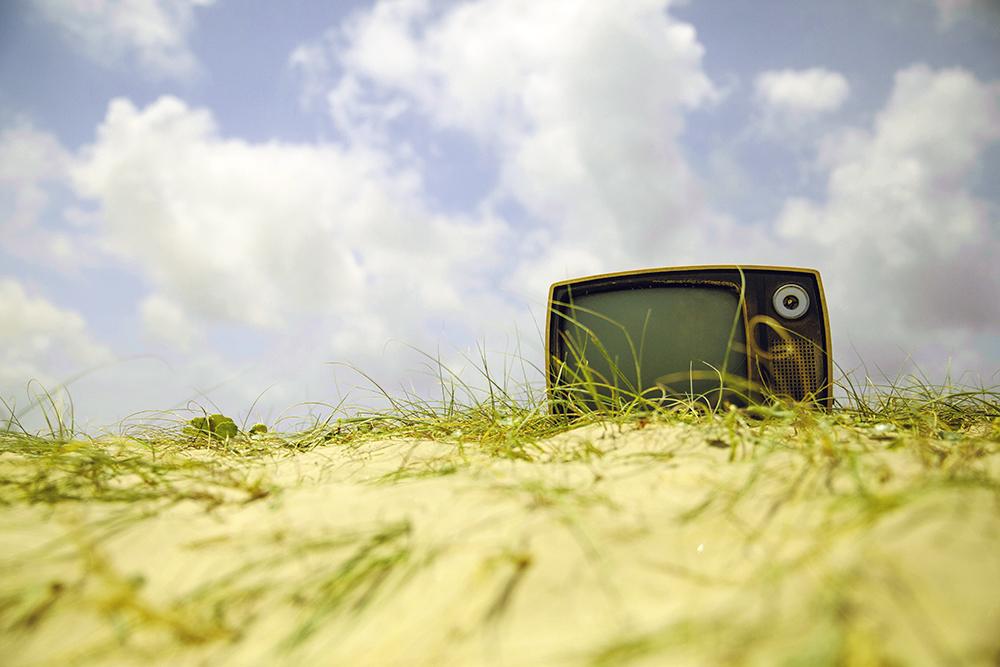 TV on Beach
