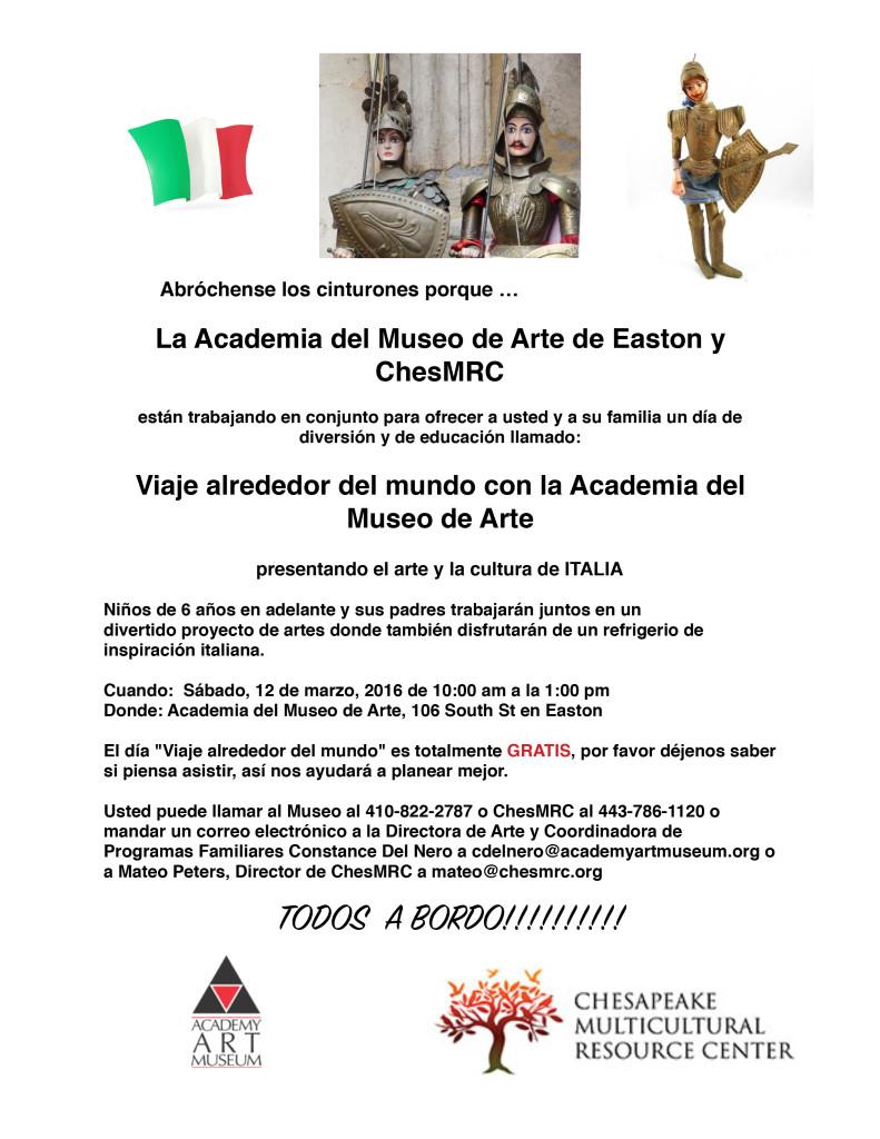 TTW Italy Flier in Spanish