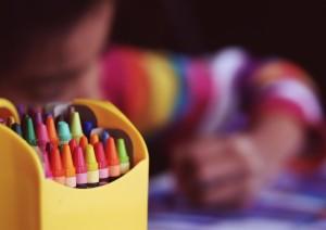 crayons kid